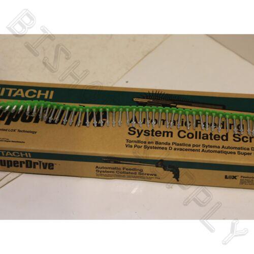 Hitachi 17501s #8 1-1//4 in Cement//Hardieplank board 1000ct SuperDrive Screws LOX