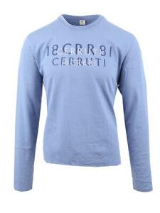Cerruti 1881 T-Shirt Langarmshirt Shirt Print Blau Blue XL