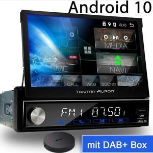 Android 10 Autoradio mit Navi Navigation Bluetooth DAB+ 1 DIN Auron Bildschirm