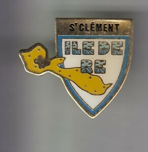 RARE-PINS-PIN-039-S-TOURISME-BLASON-CARTE-SAINT-ST-CLEMENT-ILE-DE-RE-OLERON17-BZ