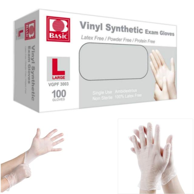 100 Vinyl große Einweg Examen Handschuhe Latexfrei und puder frei - 100/box
