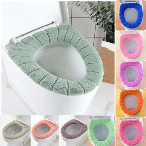Comfortable Velvet Coral Toilet Seat Cover Standard Pumpkin Pattern Cushion D