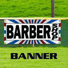 Barber Shop Welcome Banner Sign Men Women Professional Haircut Manicure