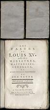 Ludwig XV.  Les fastes de Louis XV, de ses ministres, maitresses, generaux 1782