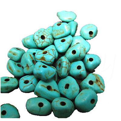 20g Green Blue Irregular Turquoise Nugget Magnesite Gemstone Loose DIY Beads
