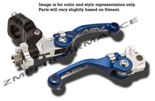 HONDA TRX700XX F4 SHORTY ASV CLUTCH AND BRAKE LEVERS BLUE PAIR PACK