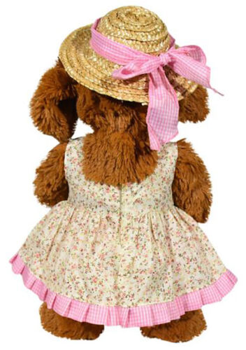 Pink Sundress with Straw Hat Outfit Fits Most 14-18 Build-A-Bear and Make Your