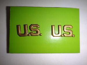 Set-di-2-US-Militare-Arruolato-Insignia-Metallo-Distintivi-con-Clutchback-Spille