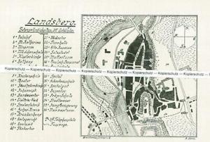 Landsberg am Lech : Stadtplan der Altstadt - um 1920      T 2-10