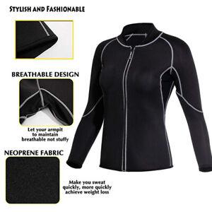 Women-039-s-Neoprene-Sauna-Vest-with-Sleeves-Gym-Hot-Sweat-Suit-Loss-Hot-Sale
