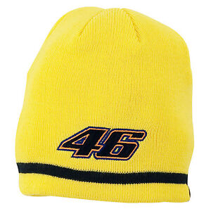 24c376d33b7 Image is loading VALENTINO-ROSSI-VR46-KIDS-YELLOW-BEANIE-HAT-OFFICIALLY-