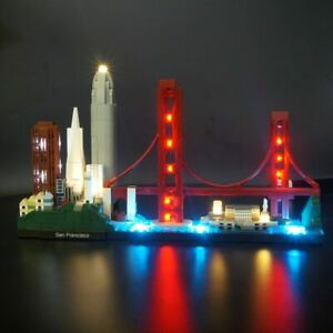 Details About Led Light Up Kit For Lego 21043 Architecture San Francisco Lighting Set Bricks