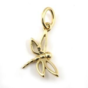 Auth Tiffany & Co. Pendant Top Necklace Dragonfly Motif 750(18K) Yellow Gold