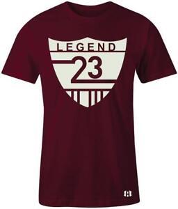 034-Legend-23-Shield-034-T-Shirt-to-Match-034-Bordeaux-034-12-039-s