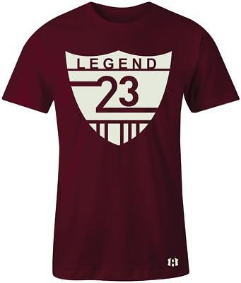 "/""Legend 23 Shield/"" T-Shirt to Match /""Bordeaux/"" 12/'s"