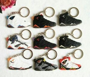 Image is loading Mini-Silicone-Jordan-Sneaker-Keychain-Charm-Accessories-Key - afeecad7a389