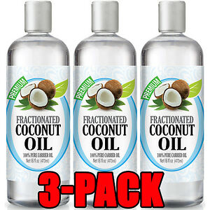 Fractionated-Coconut-Oil-100-Pure-Carrier-Therapeutic-Grade-Oil-16oz-3-Pack