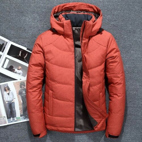 Men/'s Winter Warm Duck Down Jacket Ski Snow Hooded Puffer Coat Parka Casual New