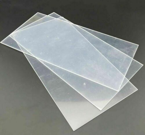 3 x Acrylic Sheets Clear Approx 1mm x 300mm x 225mm so over A4  Plastic Perspex