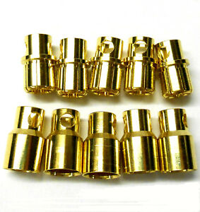 C0801x5 Rc Connector 8 Mm Gold Plated Male And Female Bullet Banana X 5 Set-afficher Le Titre D'origine Mhgvivmk-07162501-861601680