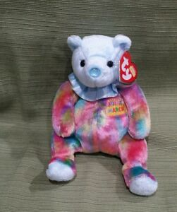 060adeaecbe Image is loading Ty-Beanie-Baby-March-the-Birthday-Bear-MWMT-
