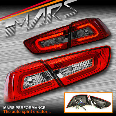 Varis Clear Red 3D LED Tail Lights for MITSUBISHI LANCER CJ CF SEDAN 07-18 & EVO
