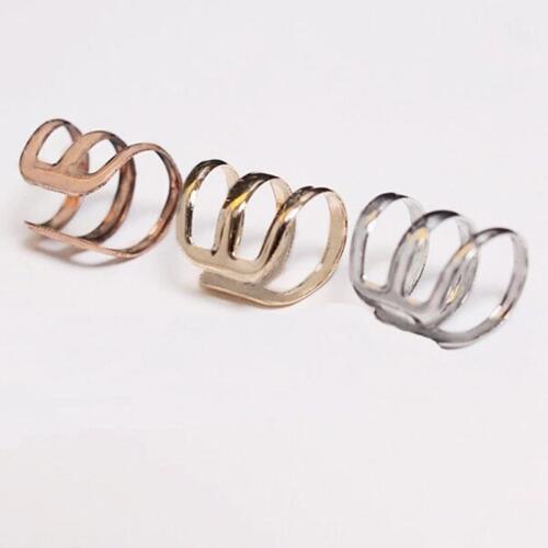 Unisex Punk Rock Ear Clip Cuff Wrap No piercing-Clip On Earring Jewelry GD