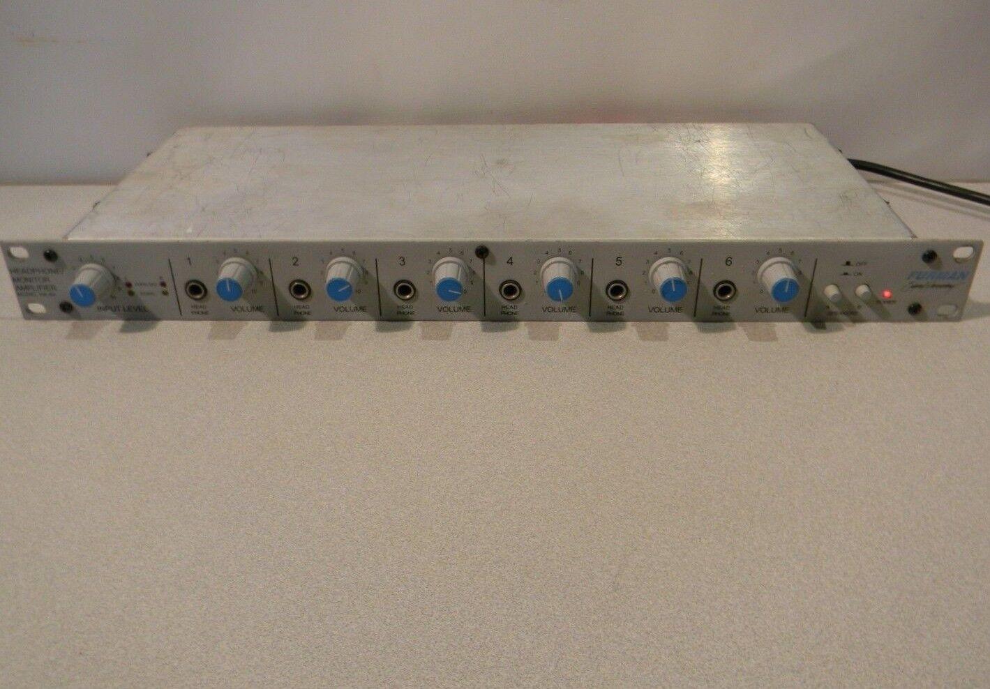Furman HA-6A Rackmount 6-Channel Studio Headphone & Monitor Amplifier 100%Tested