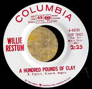 SOUL-JAZZ-promo-45-WILLIE-RESTUM-Sermonette-A-Hundred-Pounds-of-Clay-COLUMBIA