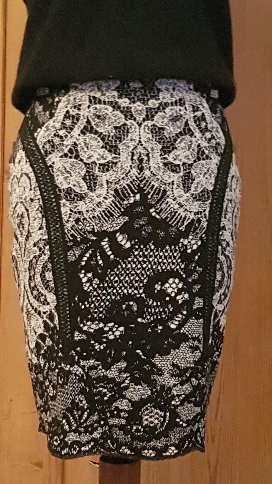 14667a1d7e9b8 Marc Cain mini skirt Ger N2 Lace print tags Etro like amazing new ...
