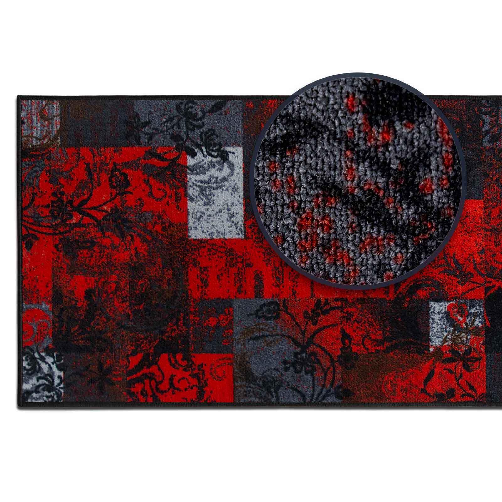 Läufer Läufer Läufer Vintage rot anthrazit Design Teppichläufer günstig retro Teppichboden | Beliebte Empfehlung  586c22