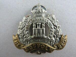 Military-K-C-Cap-Badge-The-Suffolk-Regiment-British-Army-Infantry