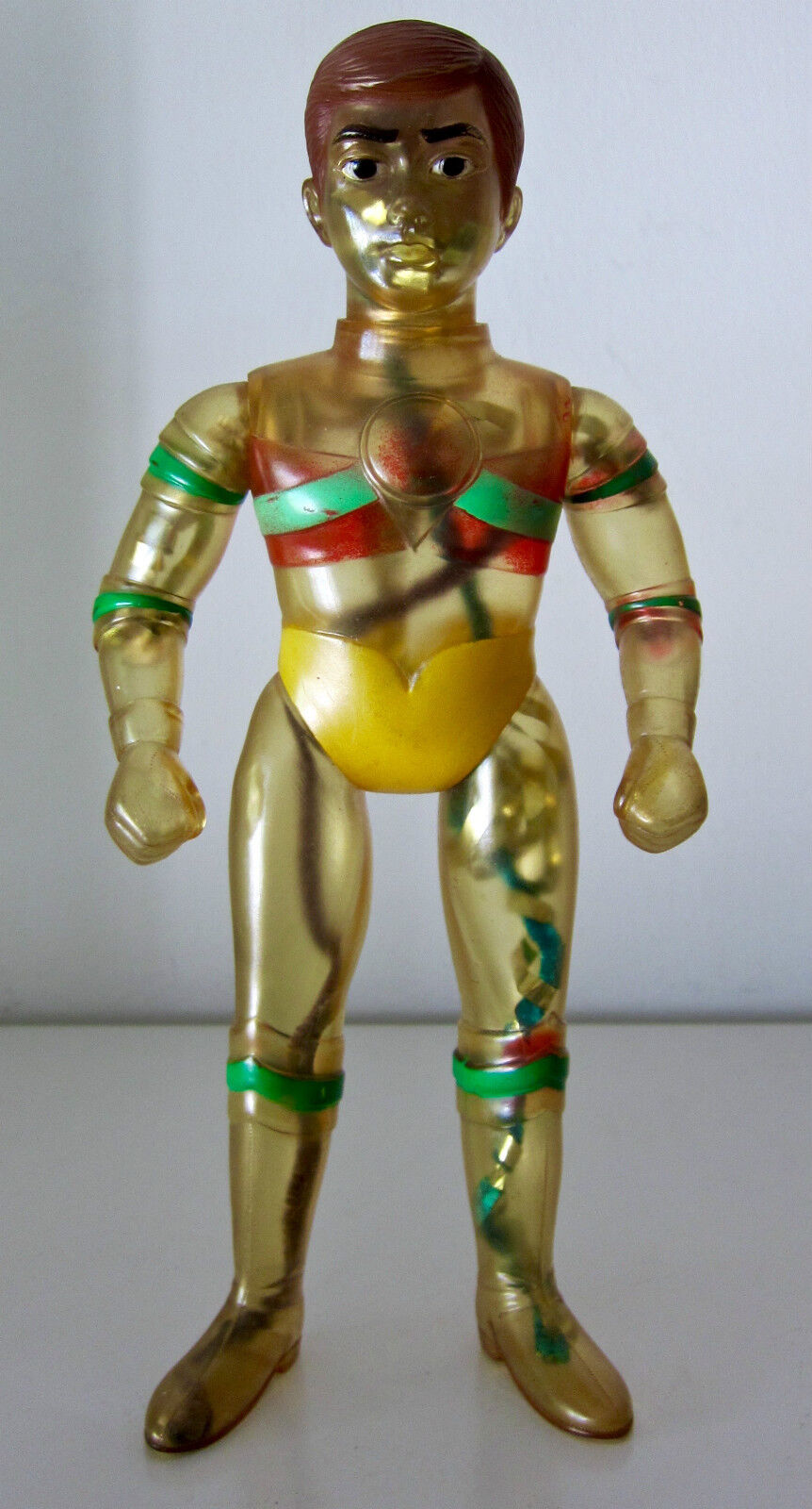 BULLMARK VINTAGE VINTAGE VINTAGE TRIPLE FIGHTER VINYL (NO MASK) 12 . 1972. VERY RARE SOFUBI 4c6973