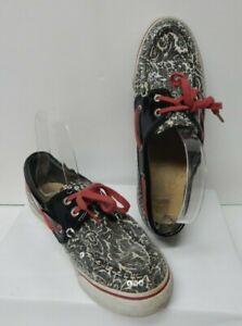 M Biscayne Floral Deck Boat Shoes