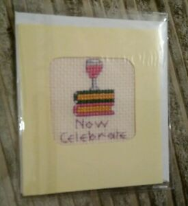 Now Celebrate Cross Stitch Card handmade - <span itemprop=availableAtOrFrom>Rotherham, United Kingdom</span> - Now Celebrate Cross Stitch Card handmade - Rotherham, United Kingdom