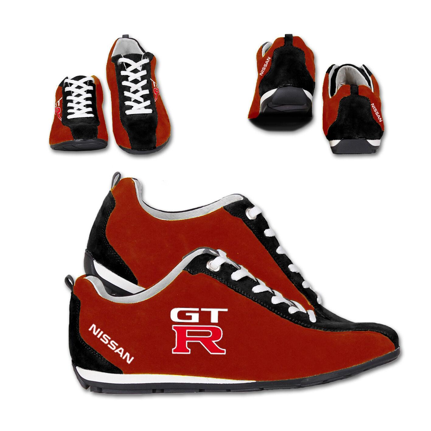 Neu Schuhe Nissan GTR Racing Bestickt Sport Shoes, Grosse 40