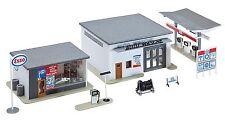 Faller 130296 H0 Tankstelle mit Waschanlage, ESSO/ FUEL, Epoche III, Bausatz
