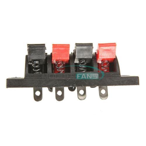 5PCS 4 Way Terminal Speaker Socket Connector Board Push Audio Stereo