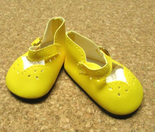 72mm Bright Yellow Girl Dressy Special! Doll Shoes