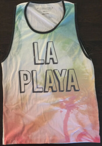 Mens Aeropostale LA PLAYA Beach Tank Top T-Shirt S