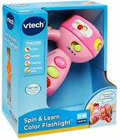 Spin And Learn Color Flashlight, Toys Games Kids Education Preschool Gift Pink on sale