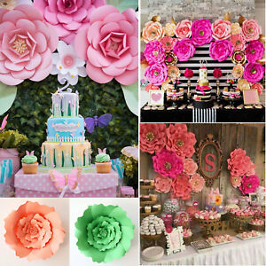 2030cm diy paper flowers backdrop decor kid birthday party wedding image is loading 20 30cm diy paper flowers backdrop decor kid mightylinksfo