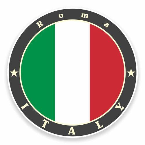 2 x roma italie vinyle autocollant voiture voyage bagages #9515