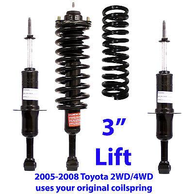 "TOYOTA 2005-08 TUNDRA FRONT 3"" LIFT LEVELING KIT #171119 STRUTS 2WD/4WD"