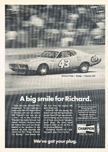 1974-Richard-Petty-Race-Dodge-Charger-NASCAR-Advertisement-Print-Art-Car-Ad-K87