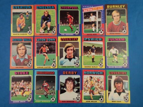 Vintage topps football 1975 cartes//Multi-Annonce-choisir votre équipe Bundle