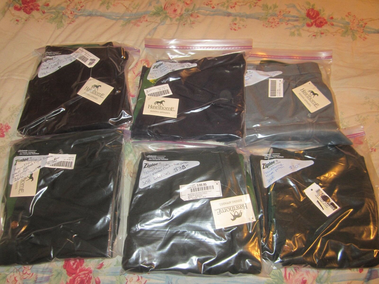 Reduced  NWT 6 PAIR HAWTHORNE BREECHES  26L, 30R, 24R   SELLERS LOT, CLEARANCE  up to 50% off