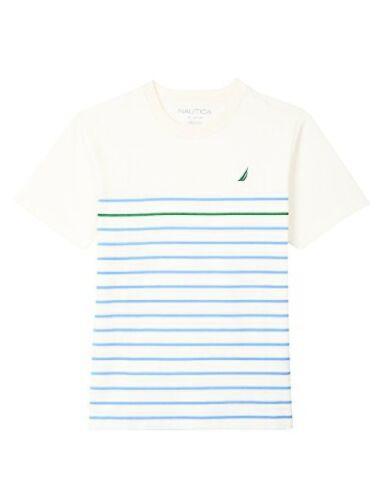 Nautica Childrens Apparel Big Boys Short Sleeve Mini Stripe Crewneck