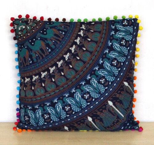 "16/"" Mandala 4 Pcs Set of Ghoomar Style Sofa Decorate Cushion Cover Indian Throw"