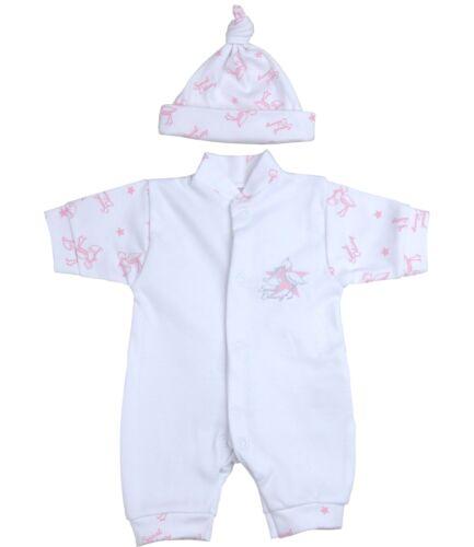 BabyPrem Premature Tiny Baby Girls Clothes Sleepsuit Romper Hat Set 1.5-7.5lb